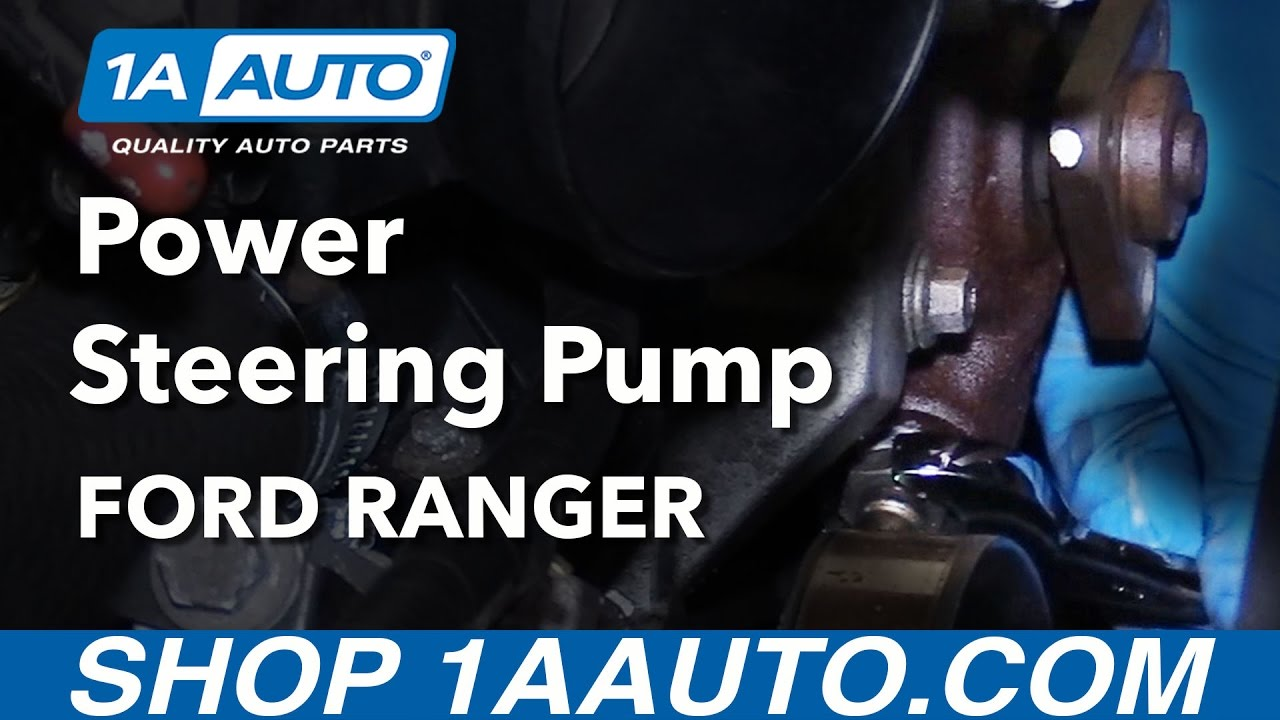 How to Replace Power Steering Pump 4.0L 01-11 Ford Ranger