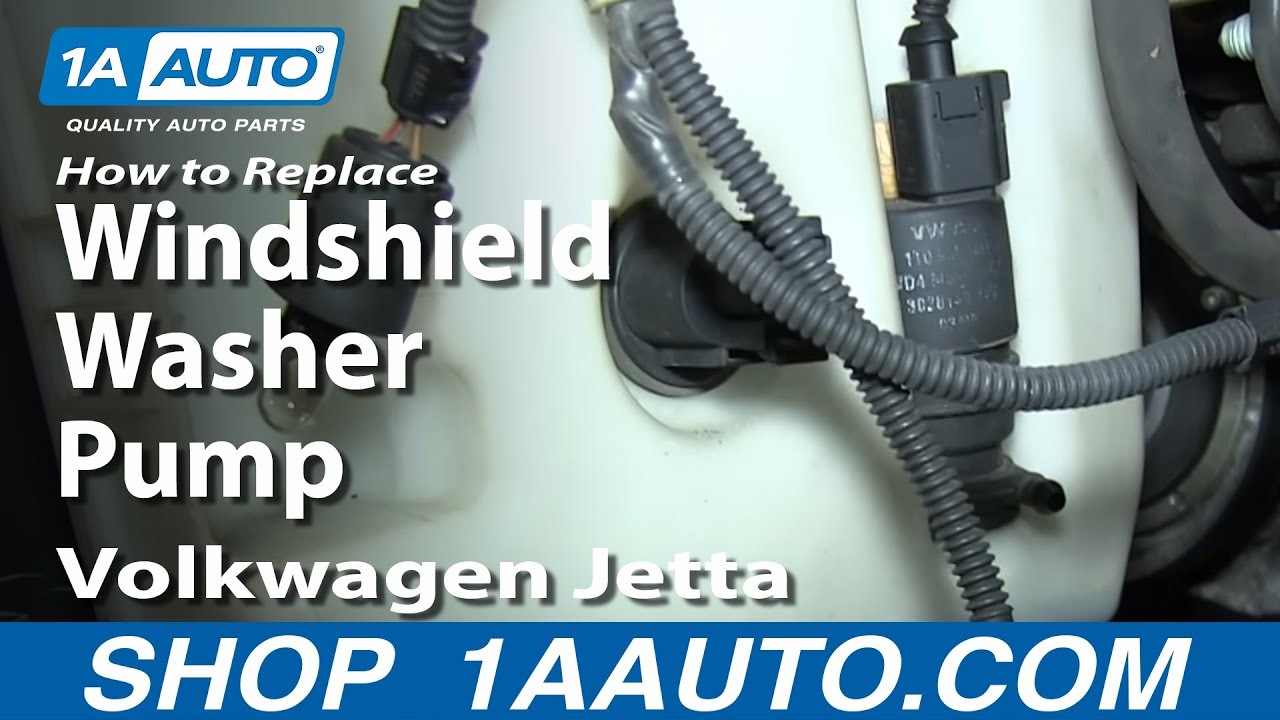 How To Replace Washer Pump 05 11 Volkswagen Jetta 1a Auto