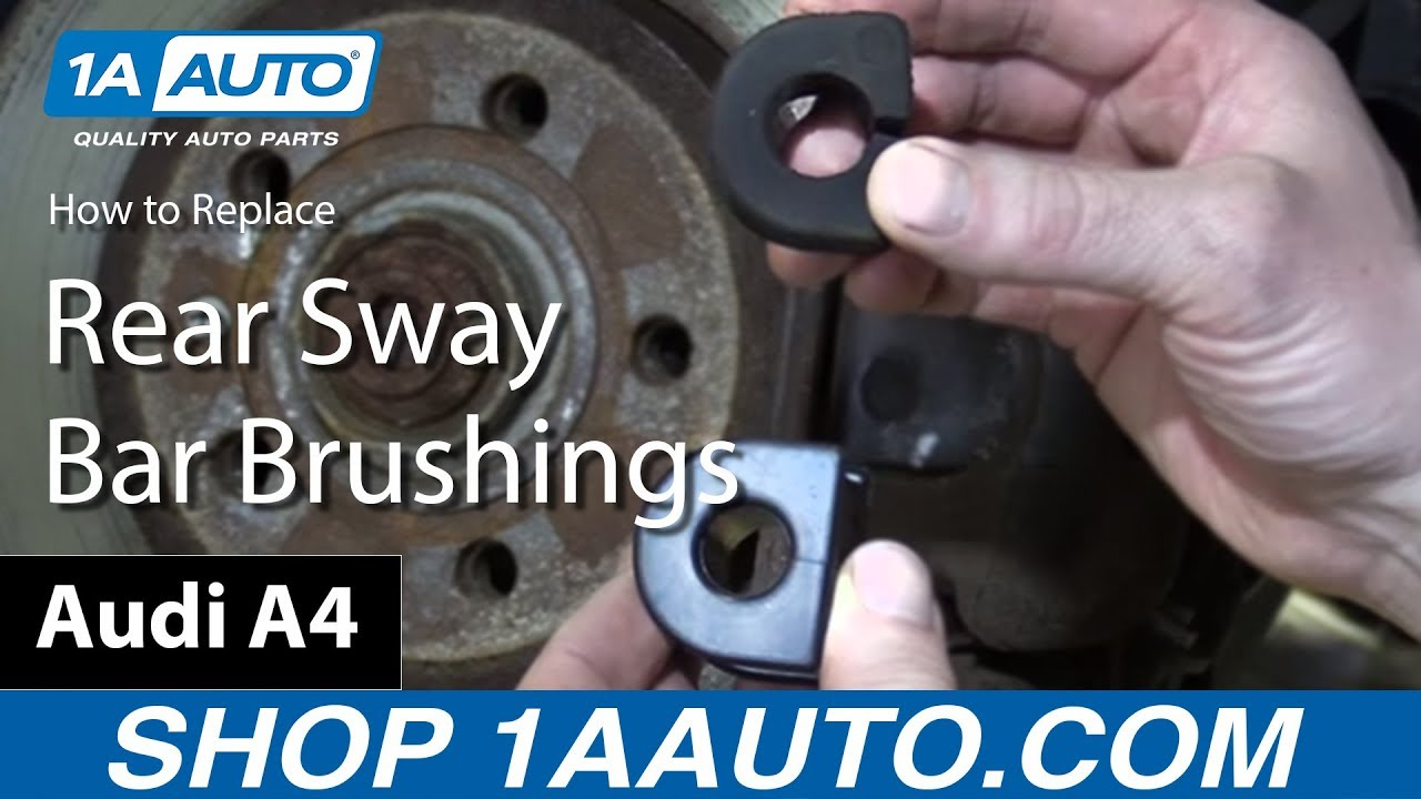 How to Replace Rear Sway Bar Bushings 02-08 Audi A4
