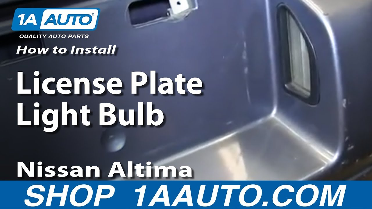 How To Install Replace License Plate Light Bulb 1998 Nissan Altima
