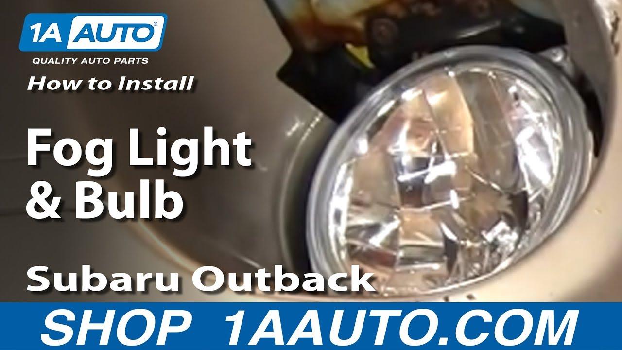 How to Replace Fog Light 00-04 Subaru Outback