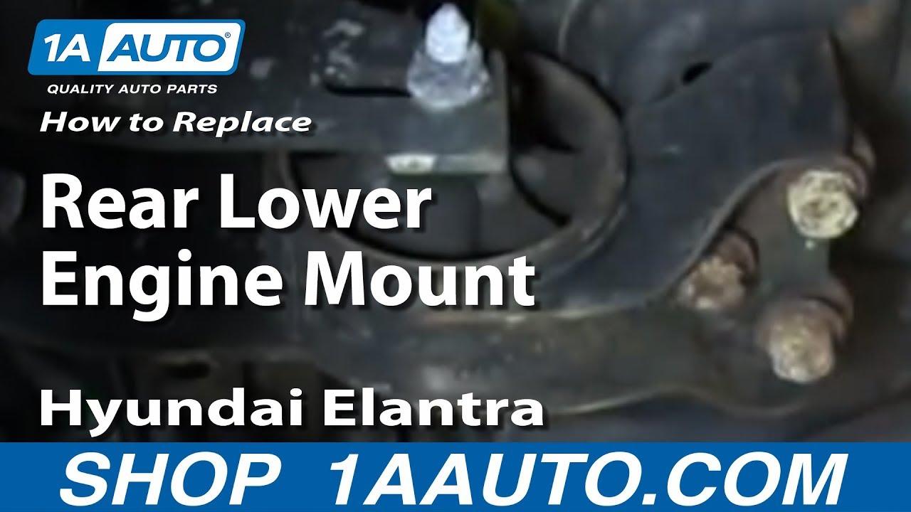 How to Replace Engine Mount 01-06 Hyundai Elantra