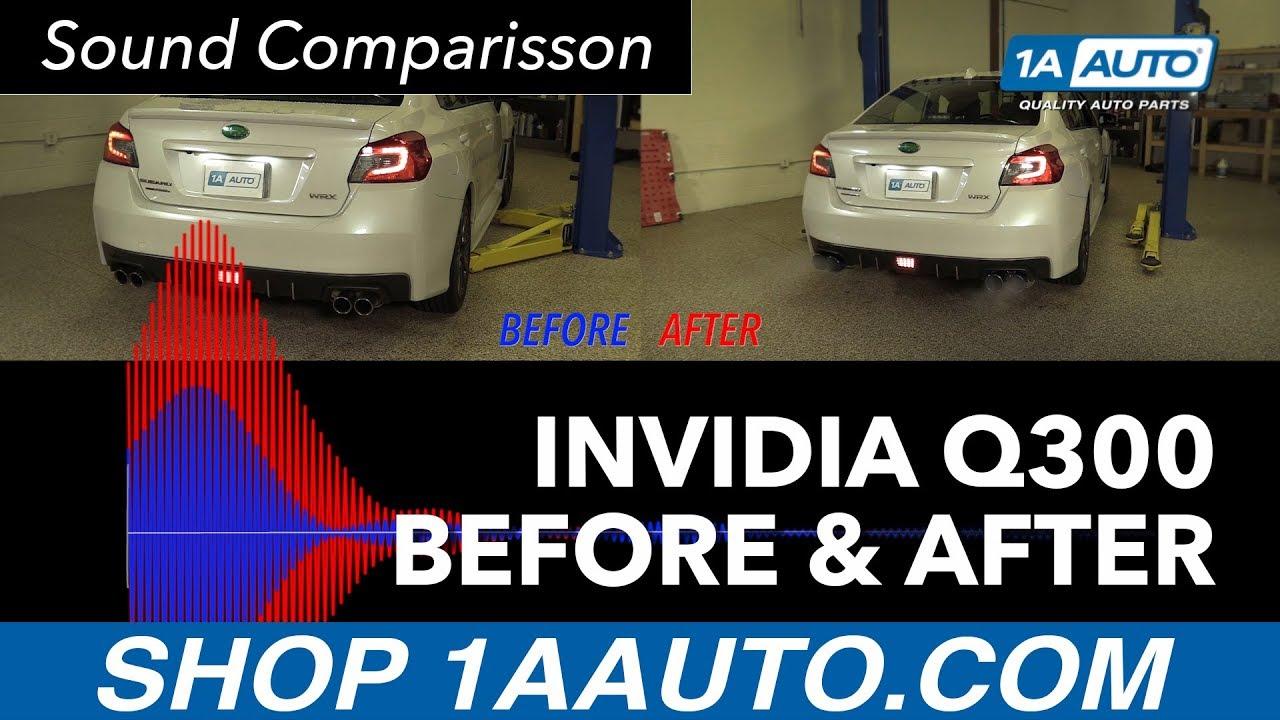 Invidia Q300 Before & After Sound Comparison