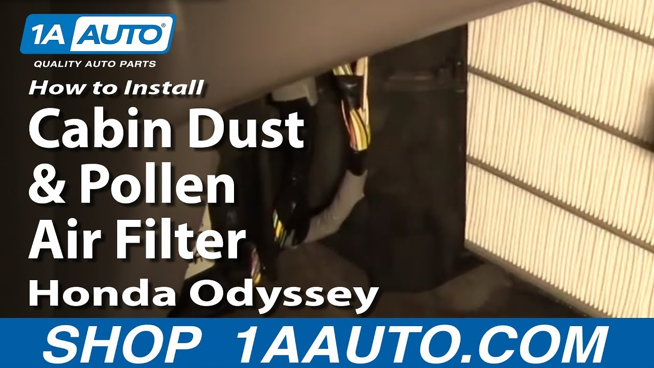 How to Replace Cabin Air Filter 99-04 Honda Odyssey