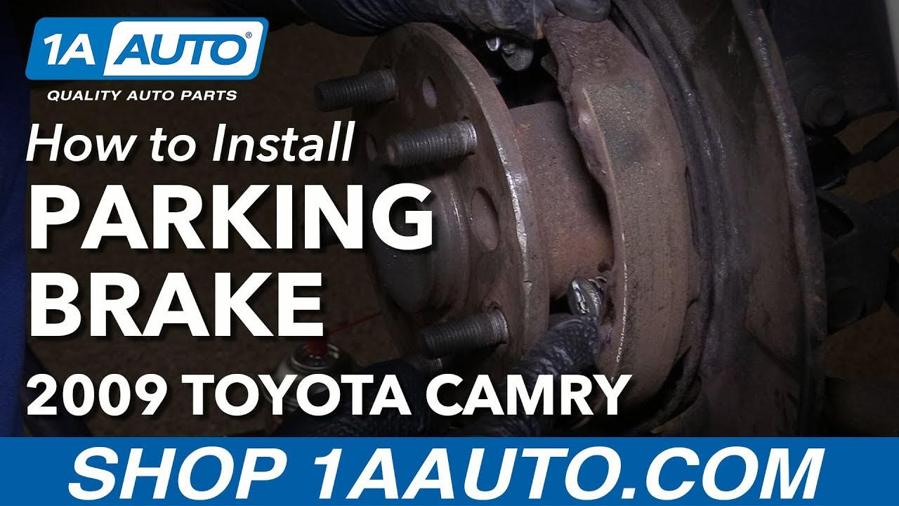 How to Replace Parking Brake Shoes and Hardware 92-11 Toyota Camry