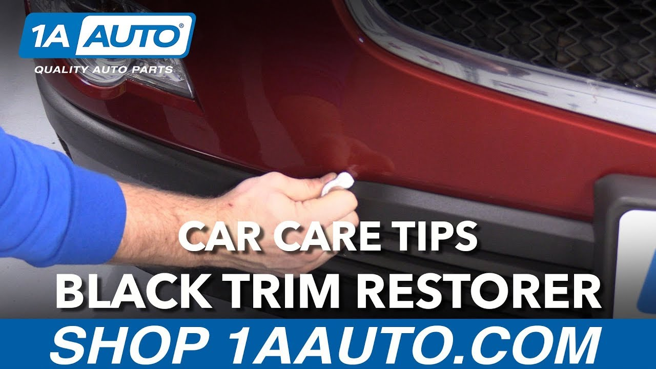 Car Care Tips - How to Restore Exterior Black Trim