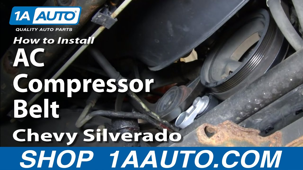 How to Replace AC Compressor Belt 01-06 GMC Sierra