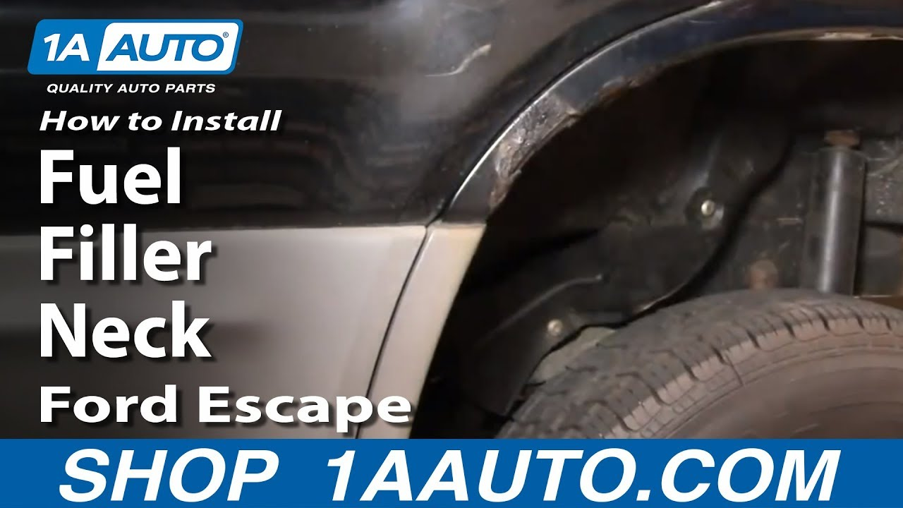 How to Replace Fuel Tank Filler Neck 01-03 Ford Escape