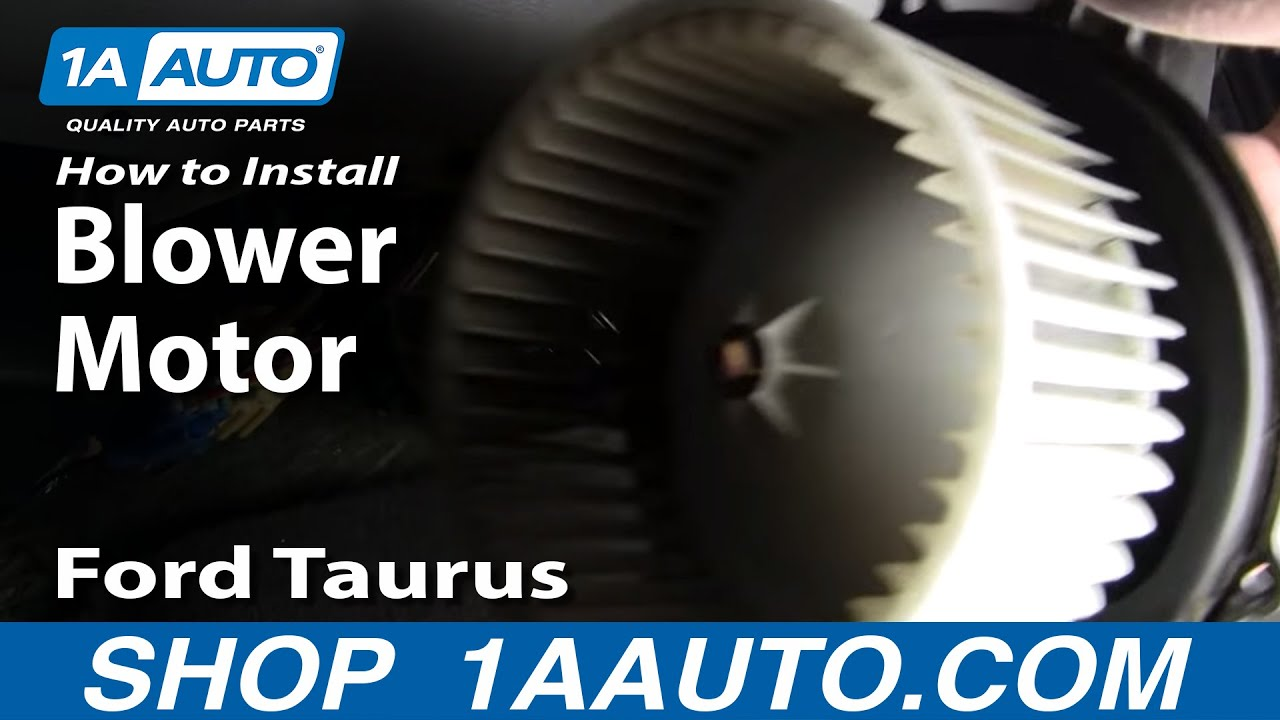 how to replace blower motor with fan cage 96 07 ford taurus 1a autoTaurus Blower Motor Replacement Motor Repalcement Parts And Diagram #4