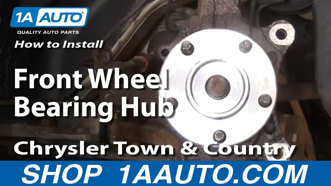How To Replace Front Wheel Bearing 96-07 Chrysler Town And Country