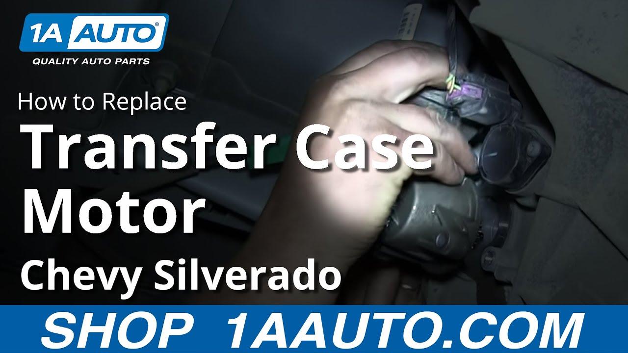 How To Replace Transfer Case Shift Motor 07-13 Chevy Silverado