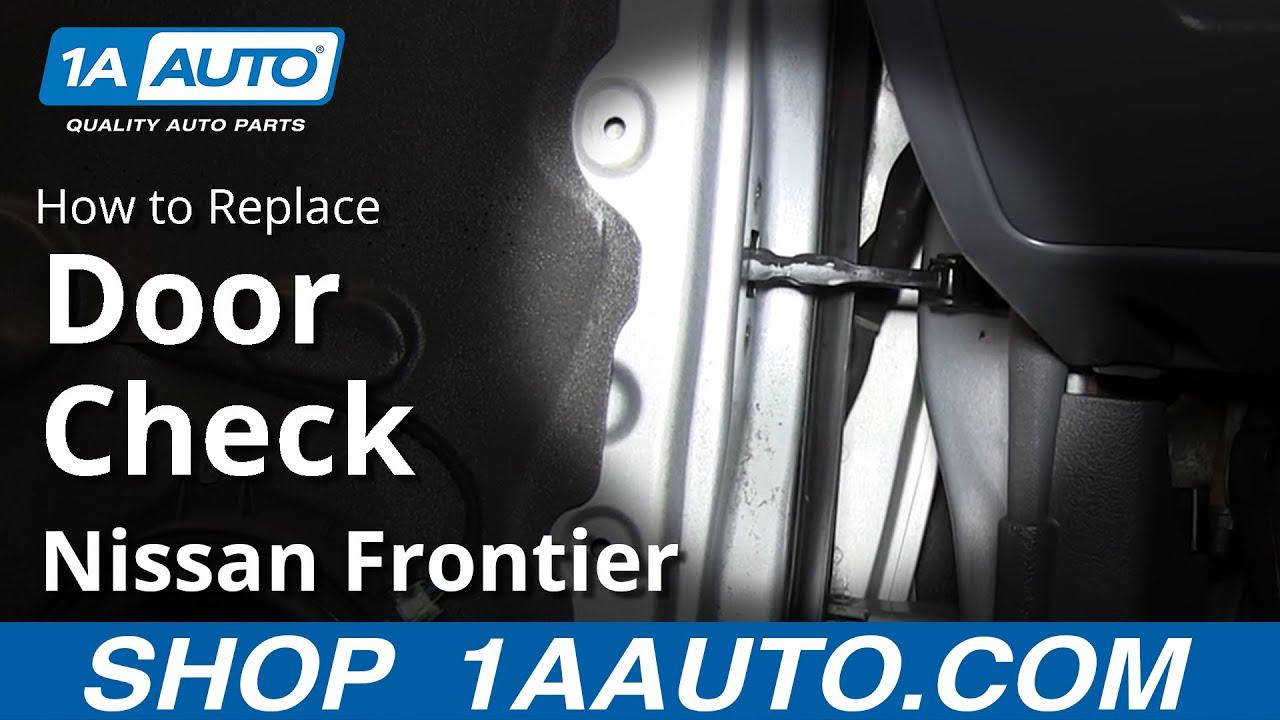 How to Replace Front Door Swing Stop Check 01-04 Nissan Frontier