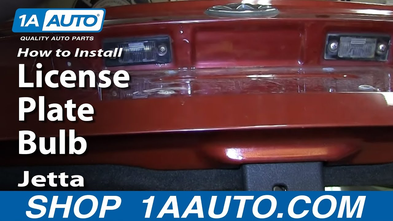 How To Install Replace License Plate Bulb 99-06 Volkswagen Jetta