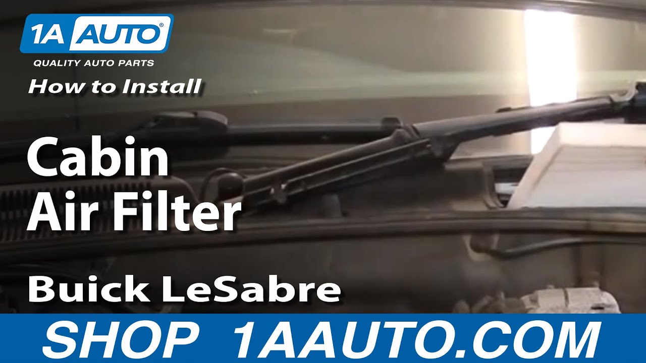How to Replace Cabin Air Filter 00-05 Buick LeSabre