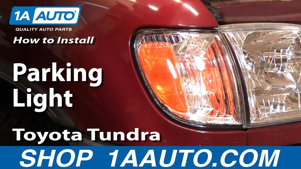 How To Replace Parking Lights 00-06 Toyota Tundra