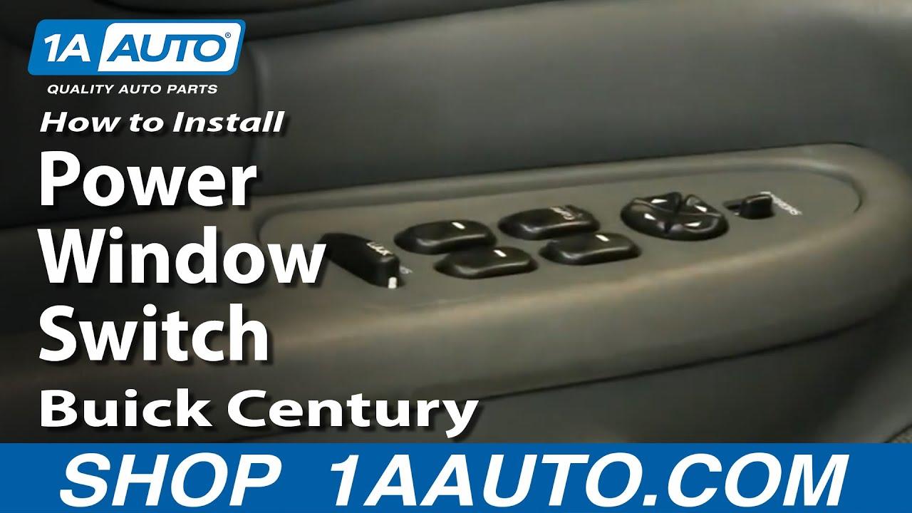 how to replace power window switch 97 05 buick century 1a autoBuick Window Switch Wiring Diagram #12