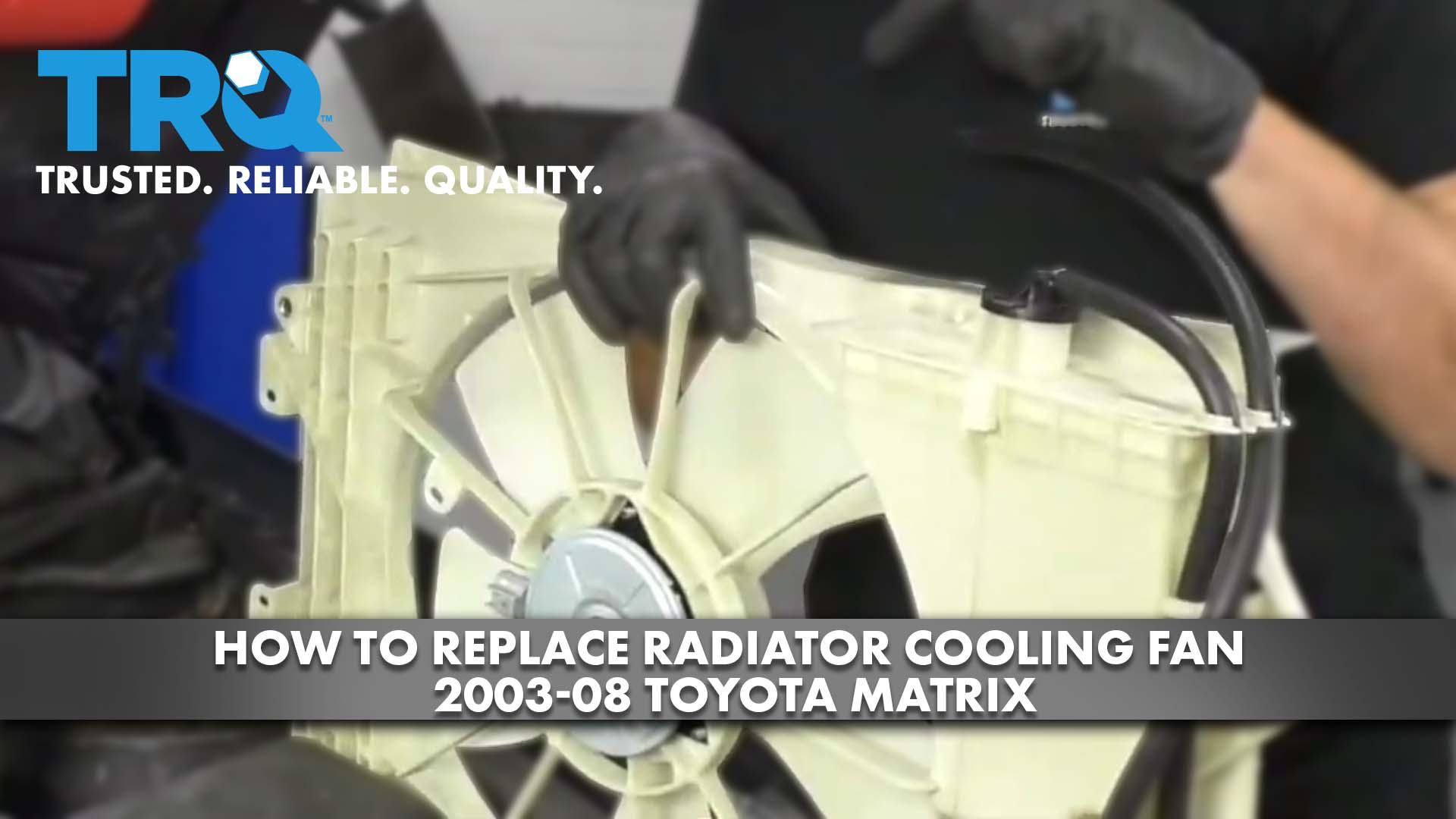 How to Replace Radiator Cooling Fan 2003-08 Toyota Matrix