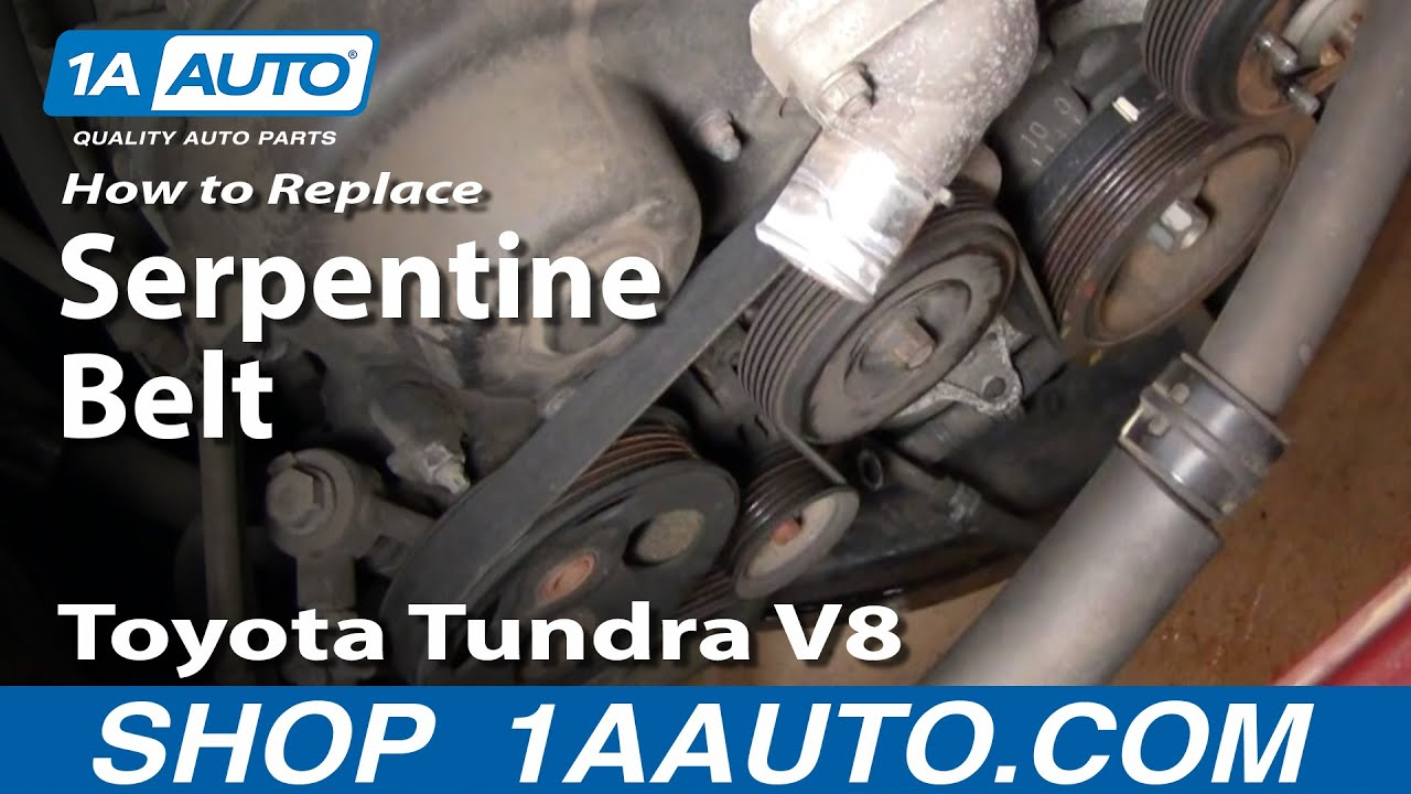 How to Replace Serpentine Belt 00-02 Toyota Tundra V8