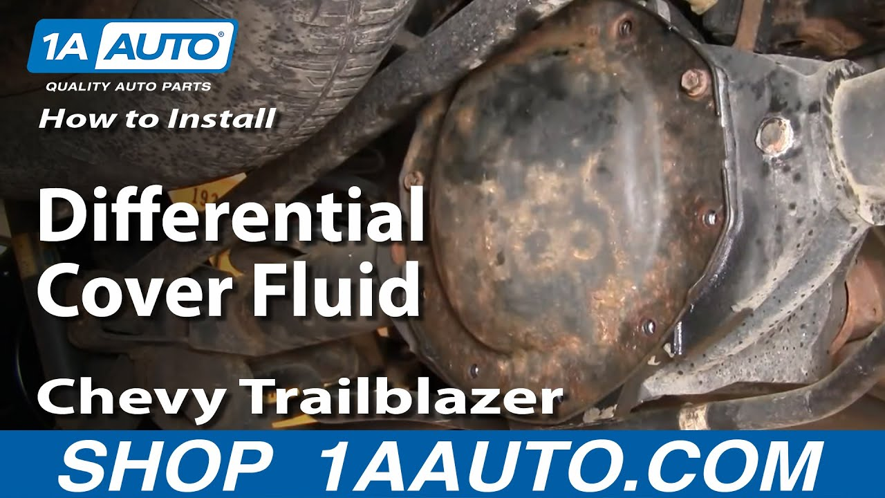 How To Replace Rear Differential Cover 02-09 Chevy Trailblazer