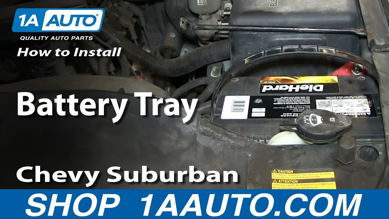 How To Replace Battery Tray 00-06 Chevy Suburban