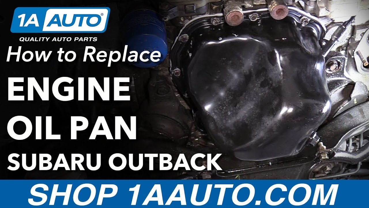 How to Replace Engine Oil Pan 04-08 Subaru Outback