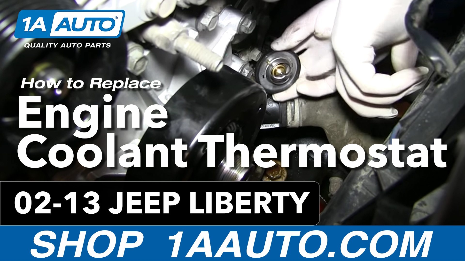 How To Replace Thermostat Housing 02-13 Jeep Liberty