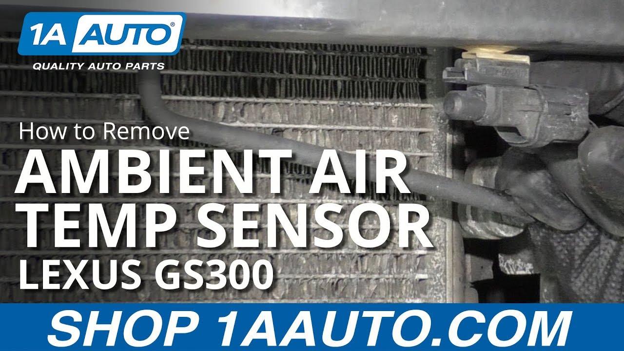 How to Remove Ambient Air Temp Sensor 97-05 Lexus GS300