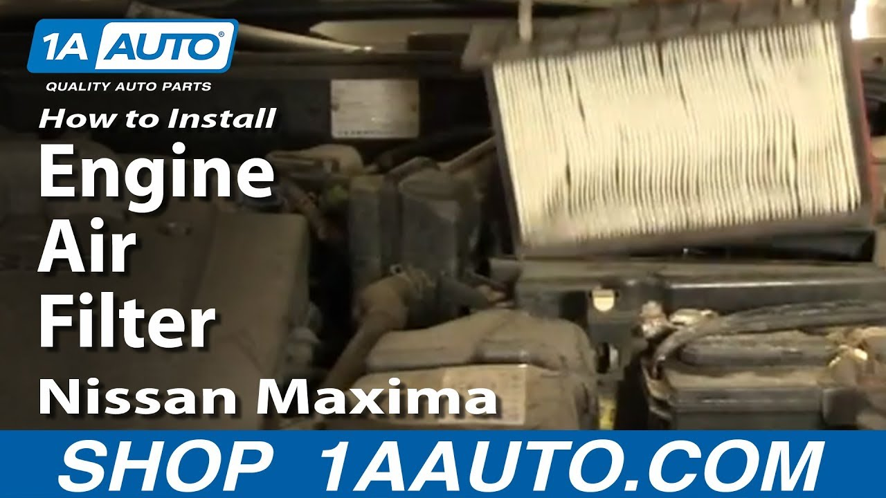 How to Replace Engine Air Filter 1981-2018 Nissan Maxima