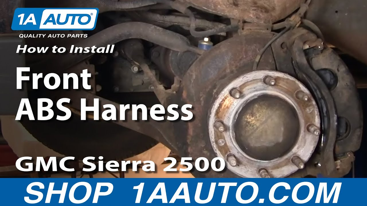 How to Replace ABS Sd Sensor with Harness 99-04 GMC Sierra 2500 Oil Sensor Wiring Harness Gmc Sierra on