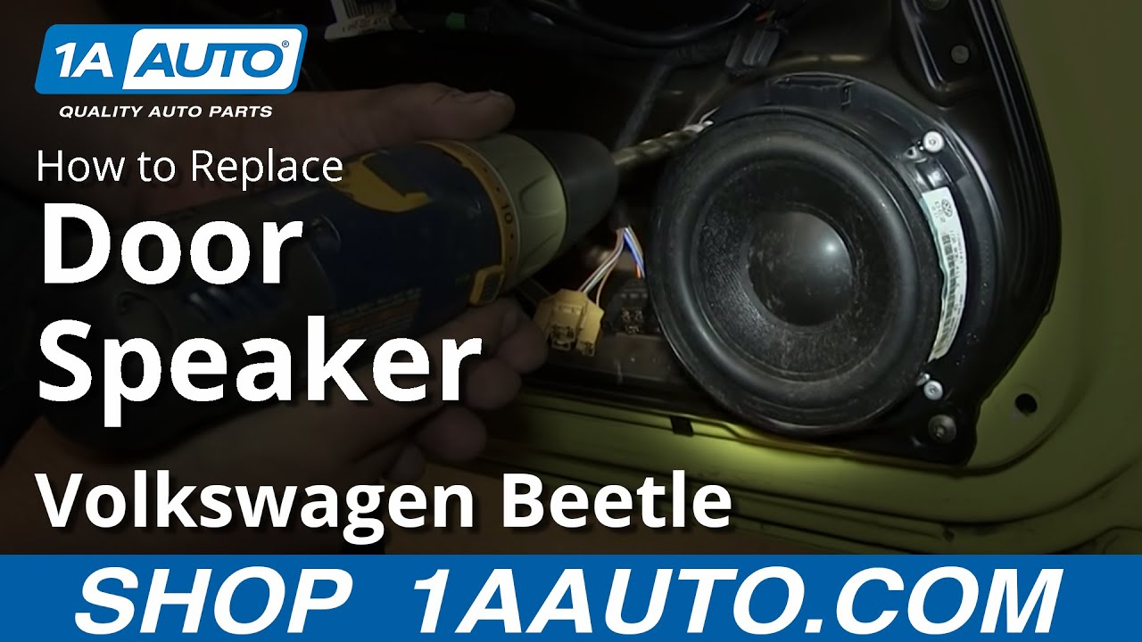 How To Replace Door Speakers 98-10 Volkswagen Beetle