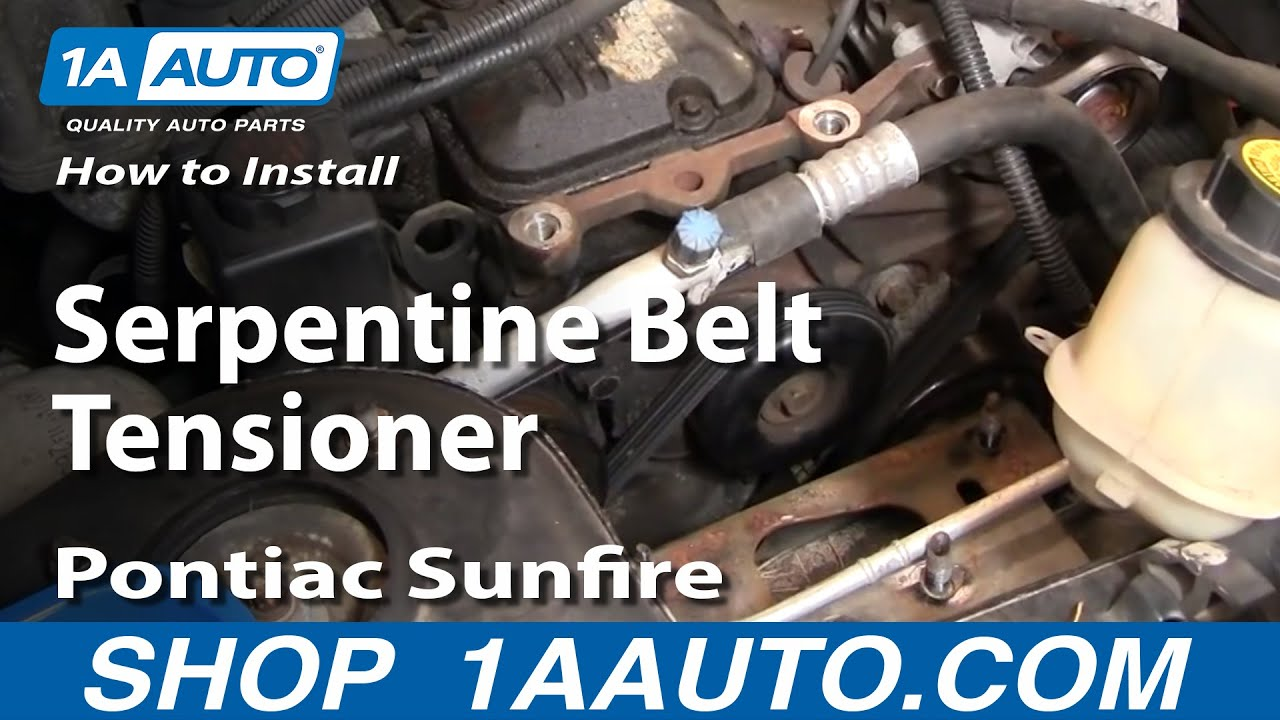 How to Replace Serpentine Belt Tensioner with Pulley 95-97 Pontiac Sunfire
