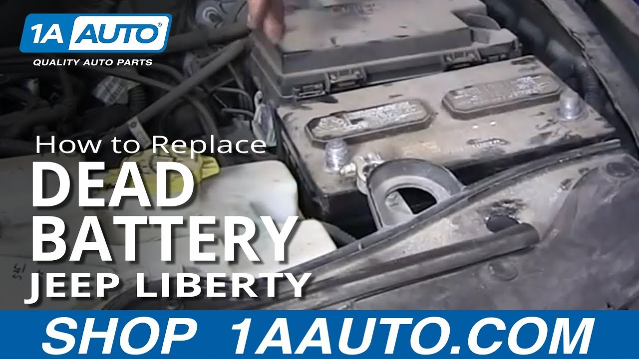 How To Replace Dead Battery 02 -12 Jeep Liberty