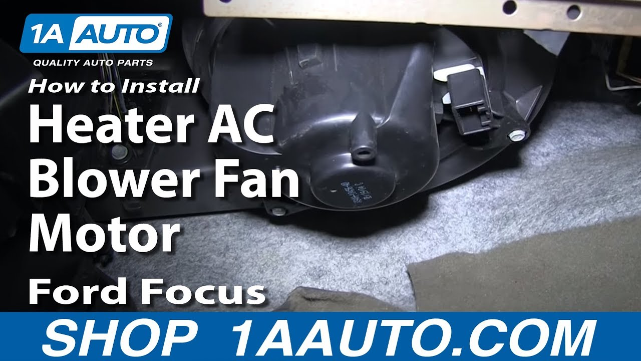 How to Replace Heater Blower Motor with Fan Cage 00-07 Ford Focus