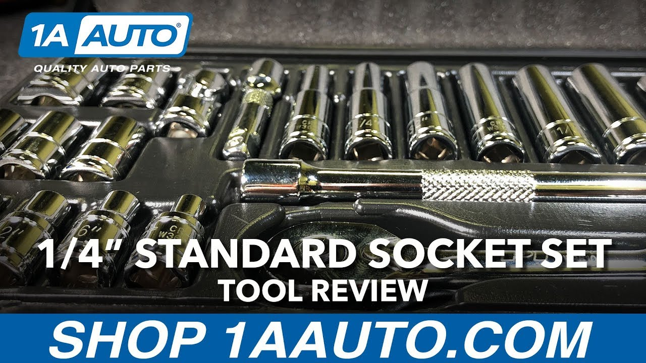 1/4 Inch Drive Standard Socket Wrench Set - Available on 1aauto.com