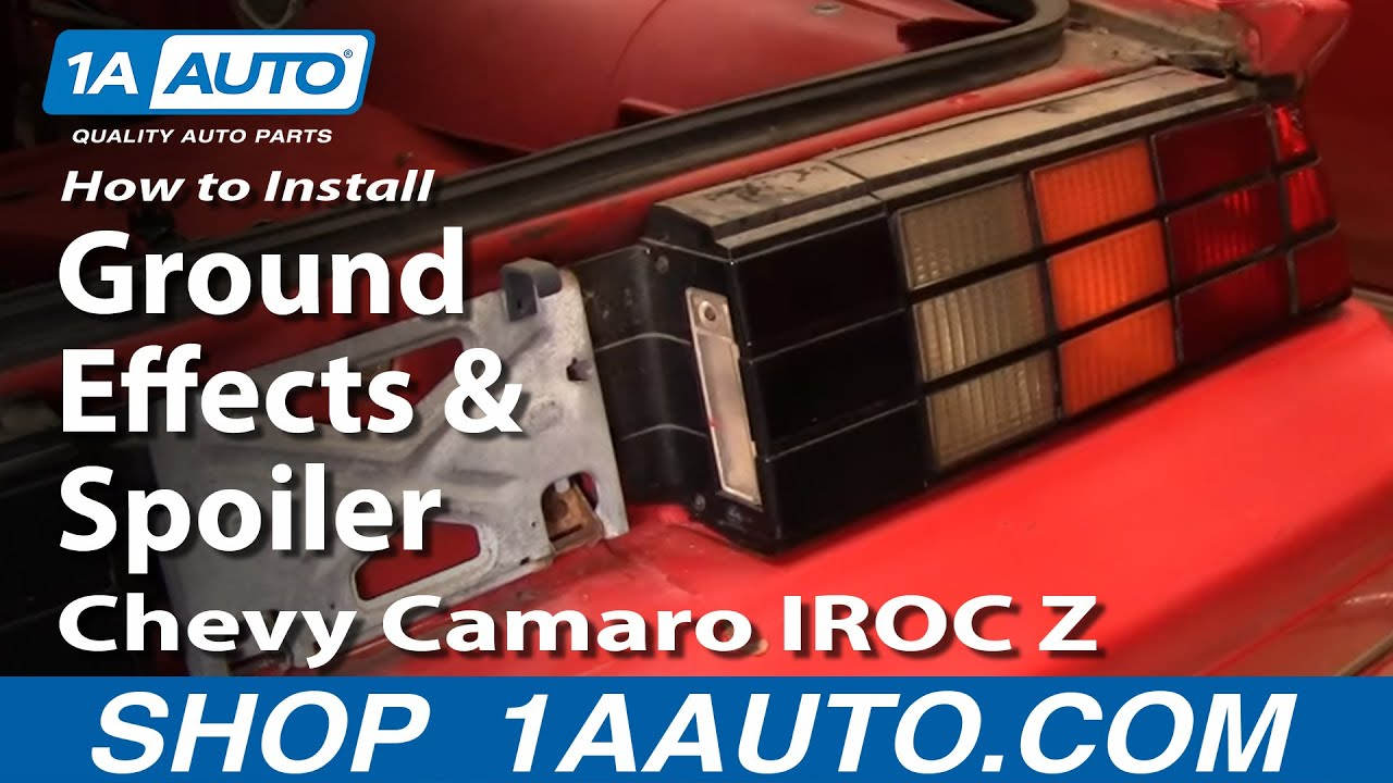 How to Replace Rear Ground Effects & Spoiler 82-92 Chevy Camaro IROC Z