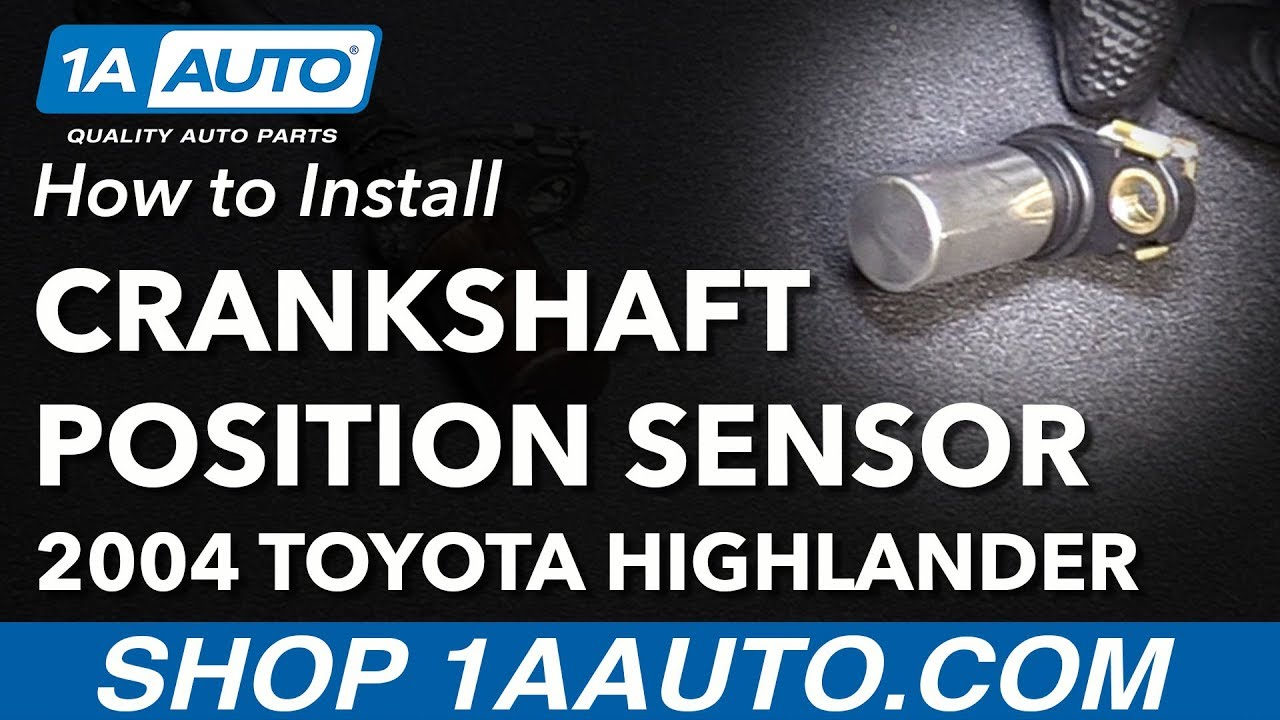 How to Replace Crankshaft Position Sensor 01-07 Toyota Highlander L4 24L