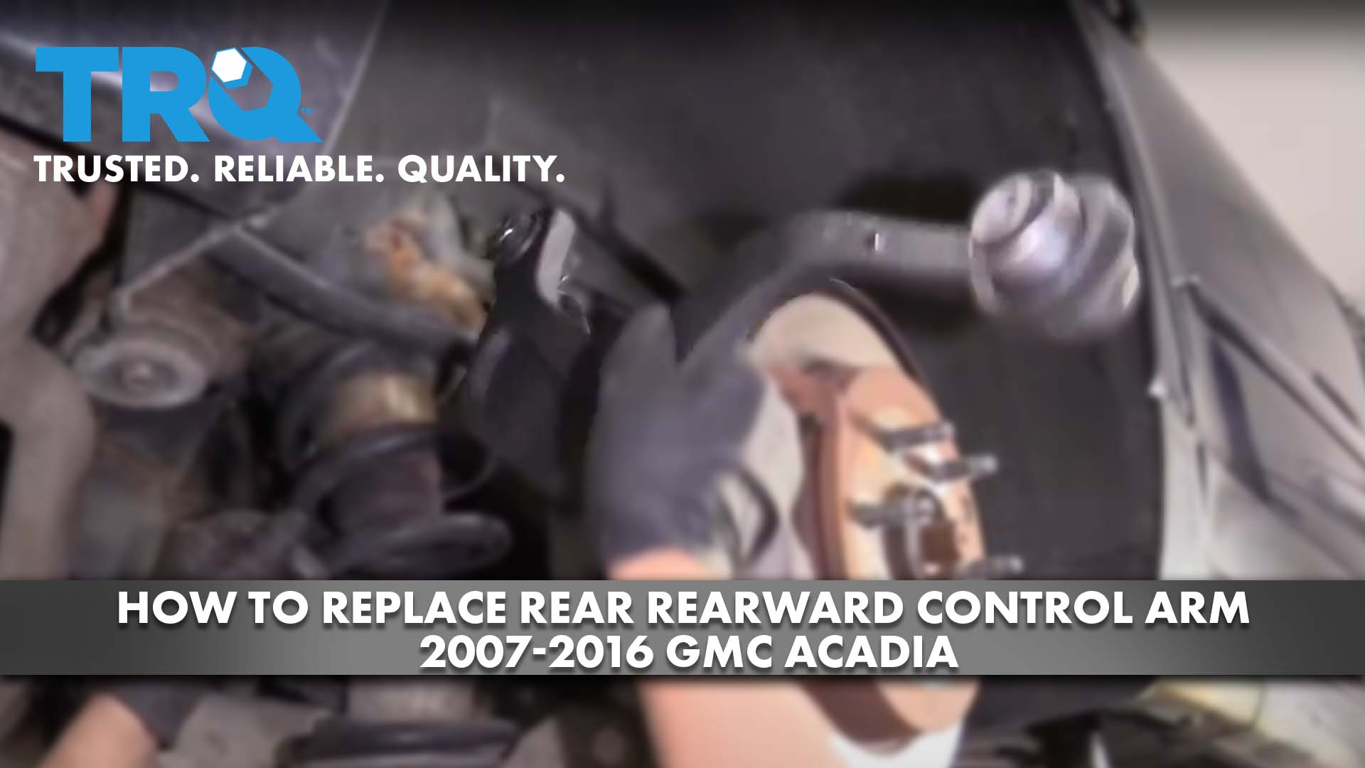 How To Replace Rear Rearward Control Arm 2007-16 GMC Acadia