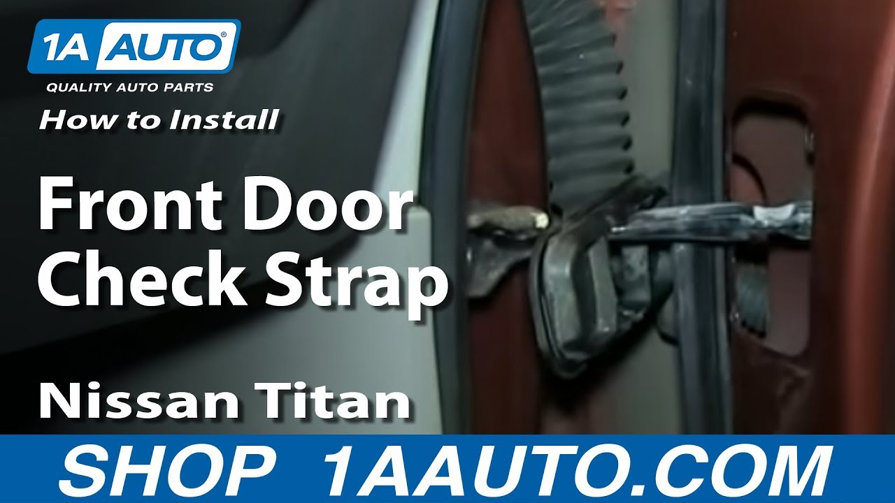 How To Replace Front Door Check 03-14 Nissan Titan