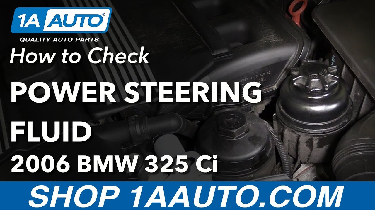 How to Check Power Steering Fluid 04-13 BMW 325Ci E46
