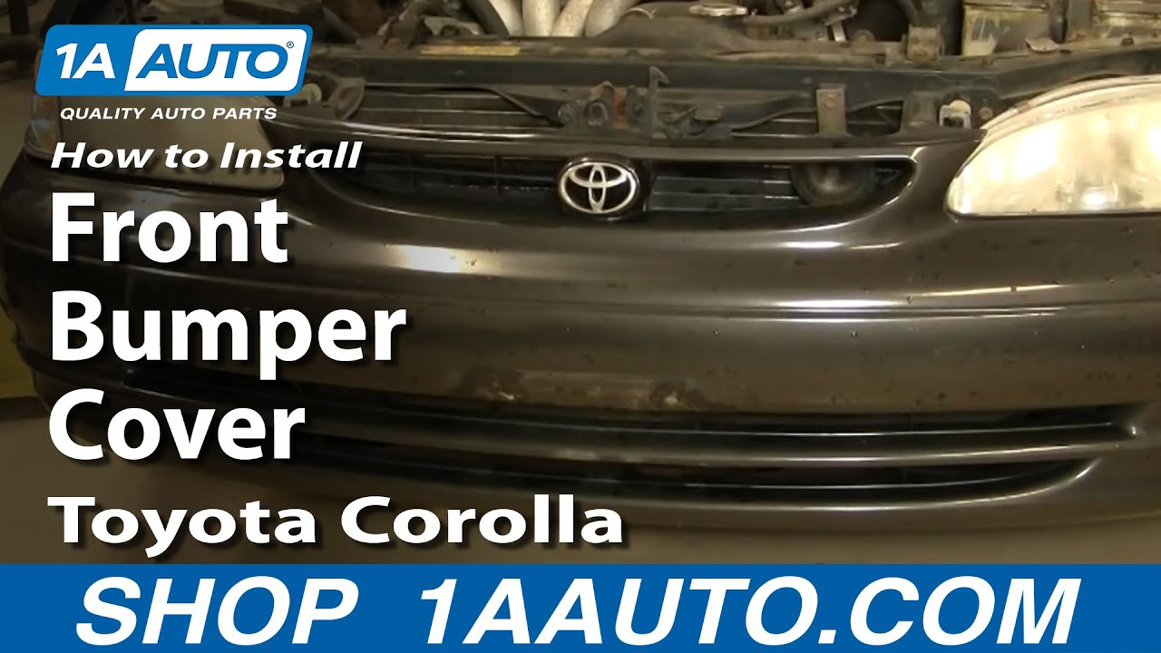 How To Replace Front Bumper Cover 98-02 Toyota Corolla