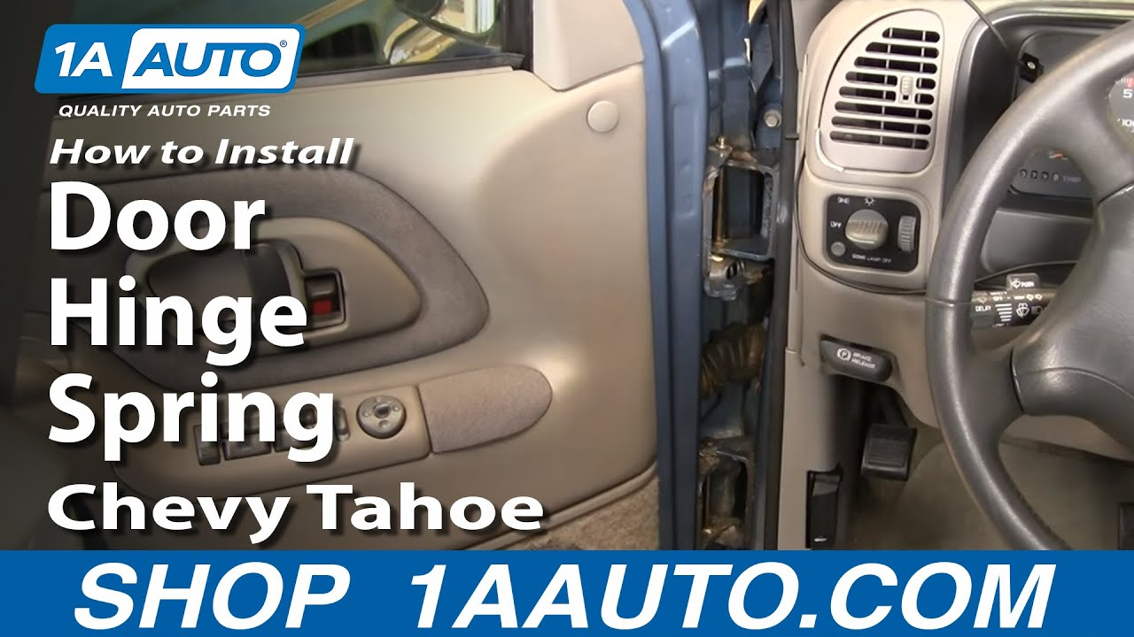 How to Install Replace Door Hinge Spring 92-99 Chevy Tahoe