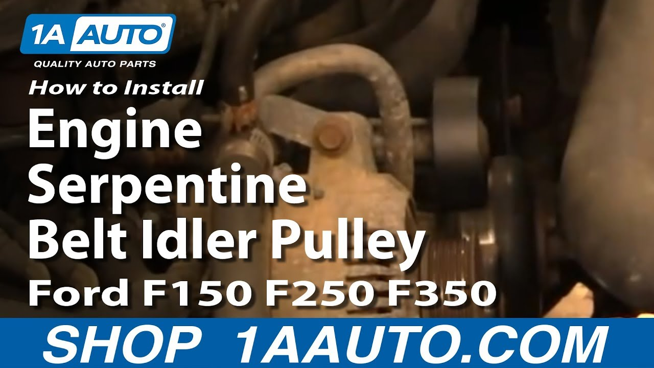 How To Replace Engine Serpentine Belt Idler Pulley Ford 92-96 F150/250/350