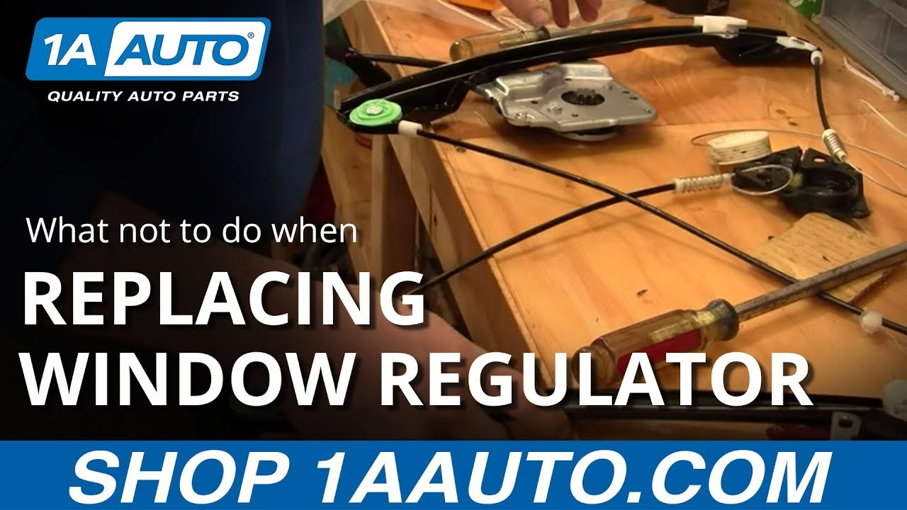 What not to do when replacing a power window motor