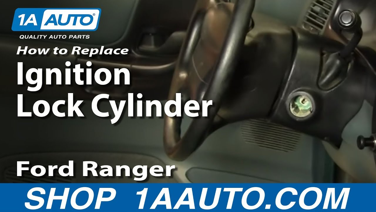 How to Replace Ignition Lock Cylinder 95-96 Ford Ranger