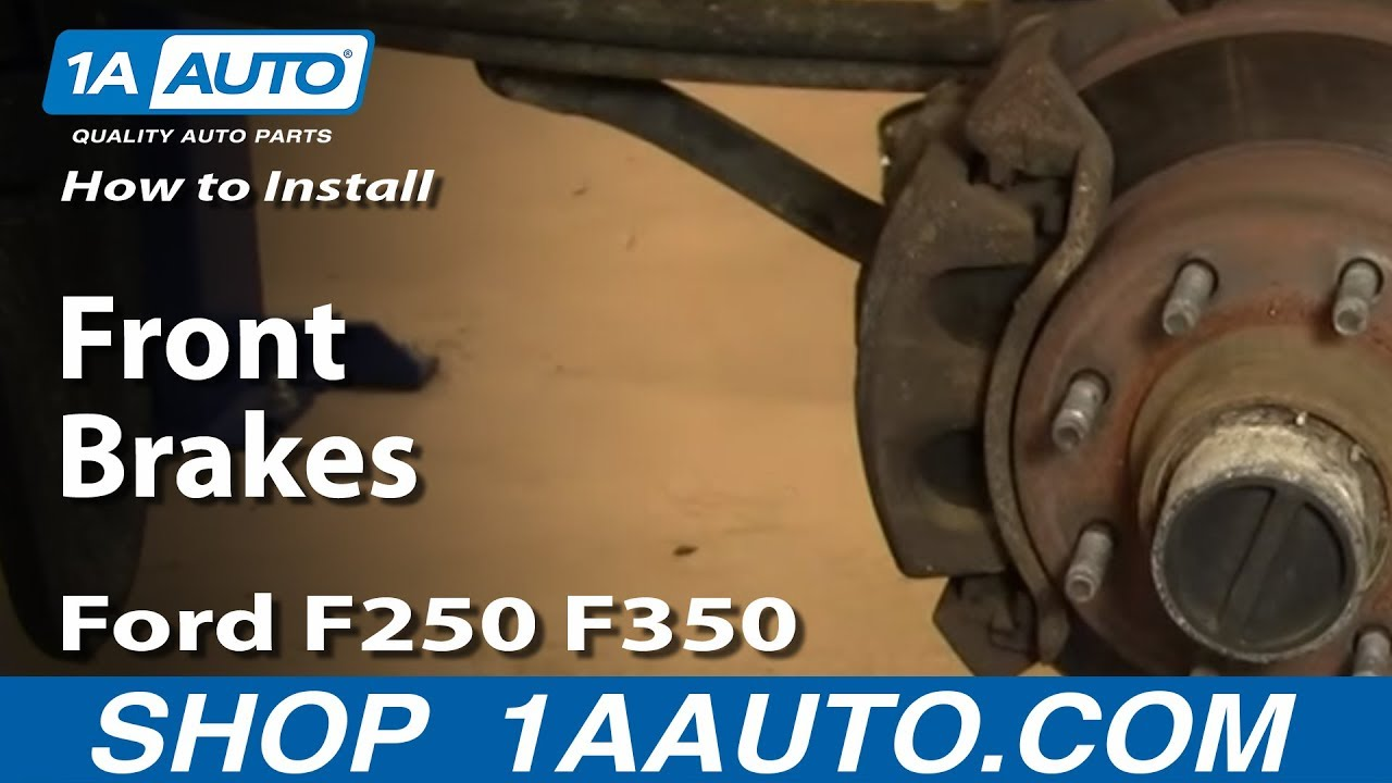 How to Replace    Front    Brakes 0004 Ford F250 Super Duty