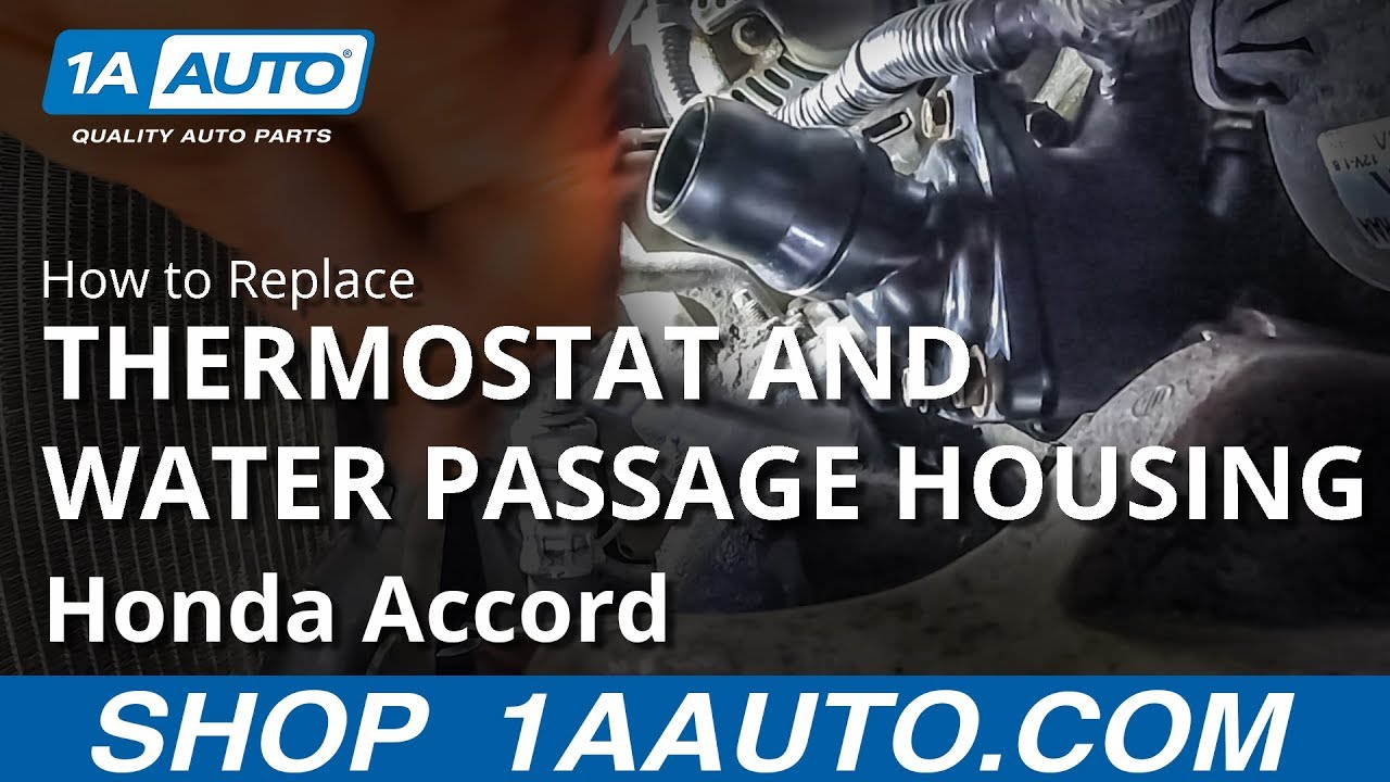 How to Replace Thermostat and Water Passage Housings 03-07 Honda Accord