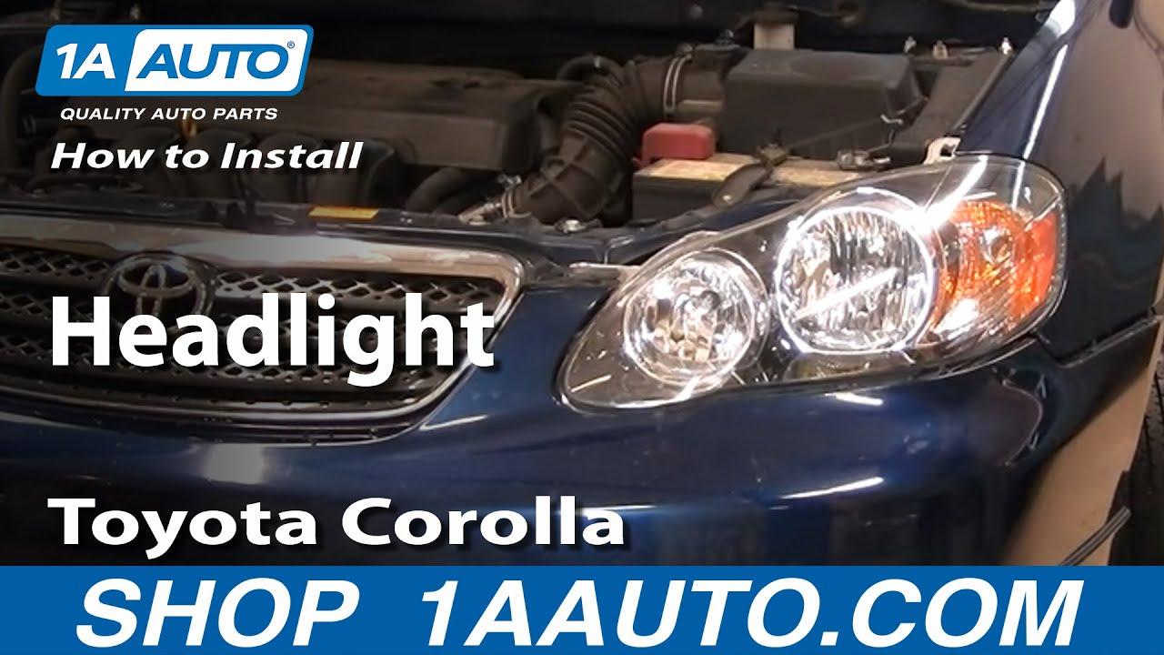 How To Replace Headlight 03 04 Toyota Corolla