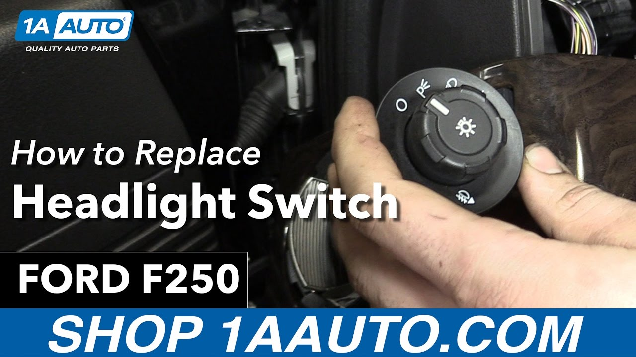 How to Replace Headlight Switch 2013 Ford F250