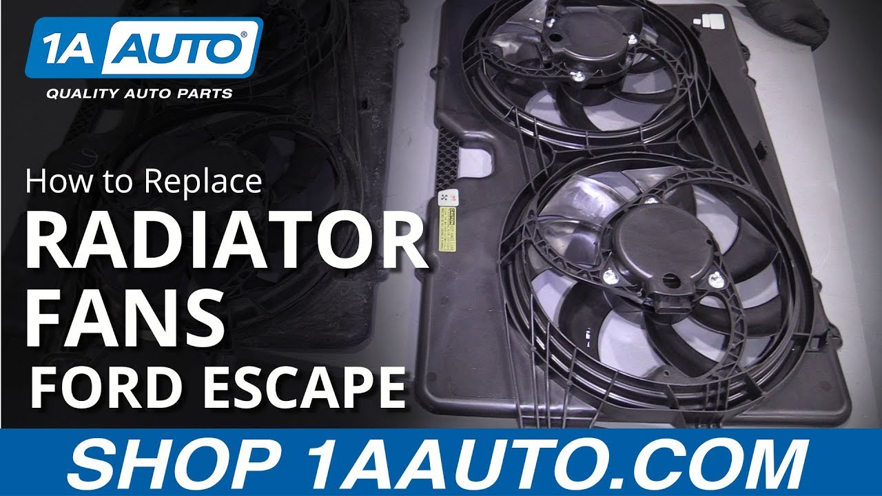 How to Replace Radiator Cooling Fans 08-12 Ford Escape