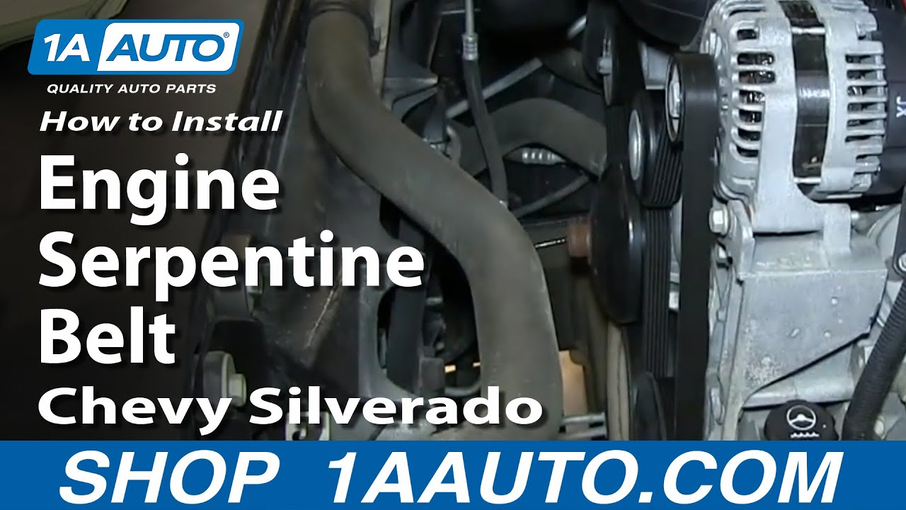 How To Replace Serpentine Belt 07-13 Chevy Silverado